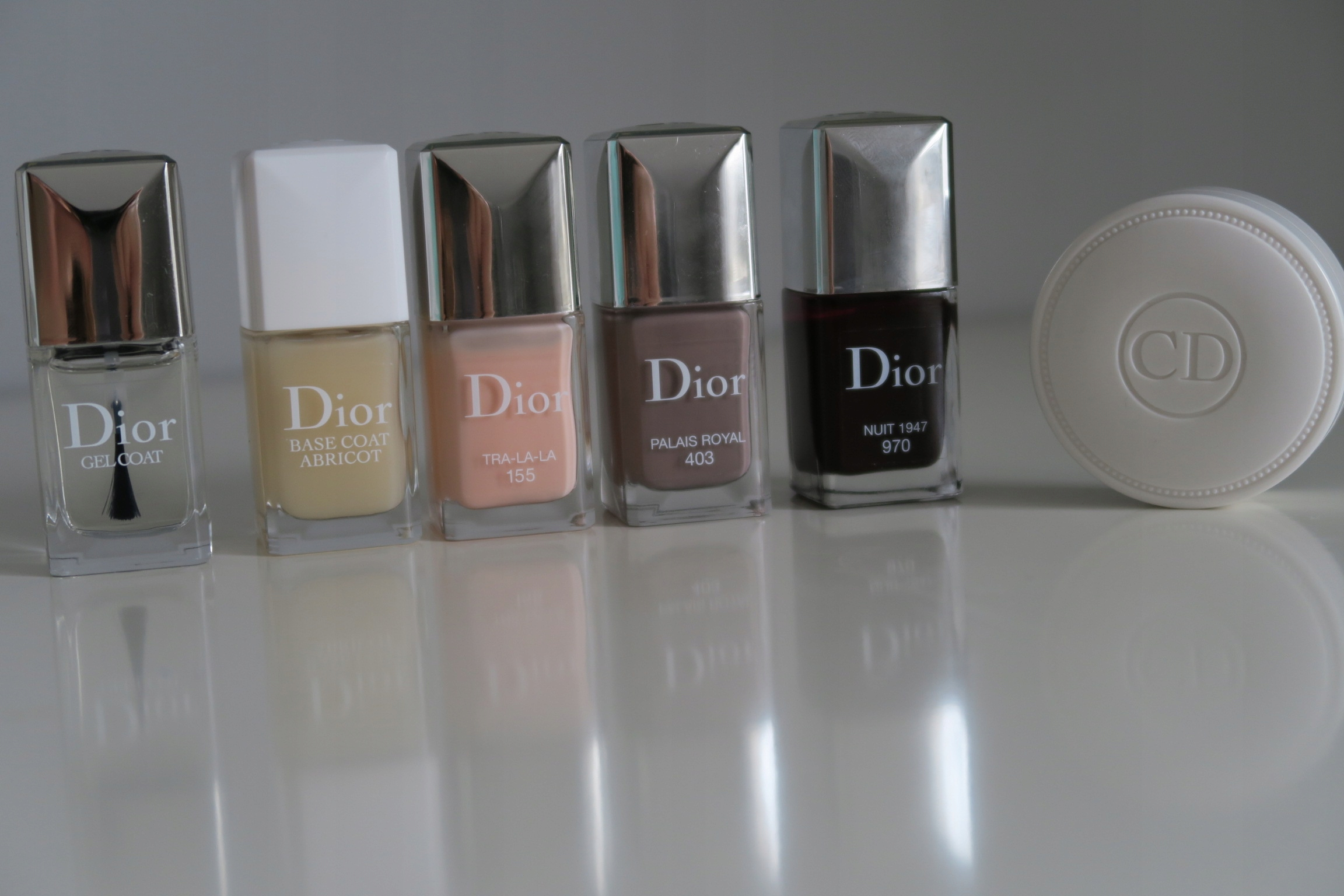 Zestaw Dior Vernis lakiery, top, Base Coat Abricot