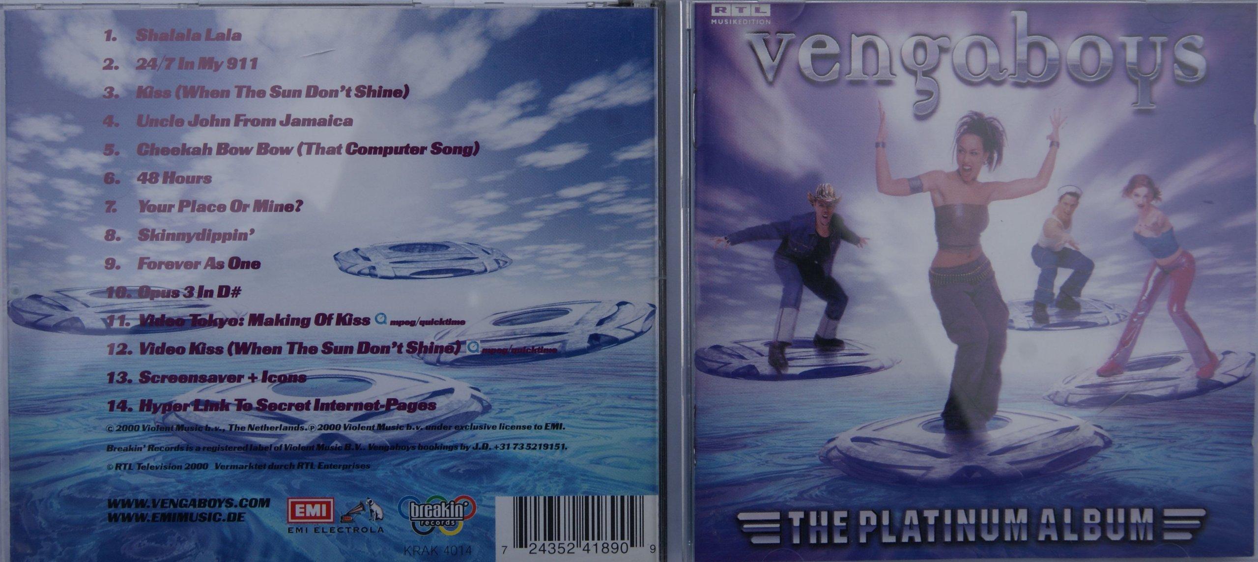 VENGABOYS - THE PLATINUM ALBUM [CD] - 6976485325 - oficjalne