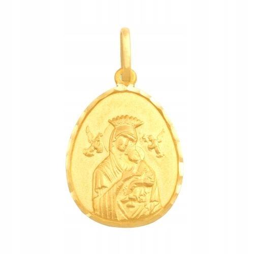 Medalik złoty 585 Matka Boska Nieustającej Pomocy