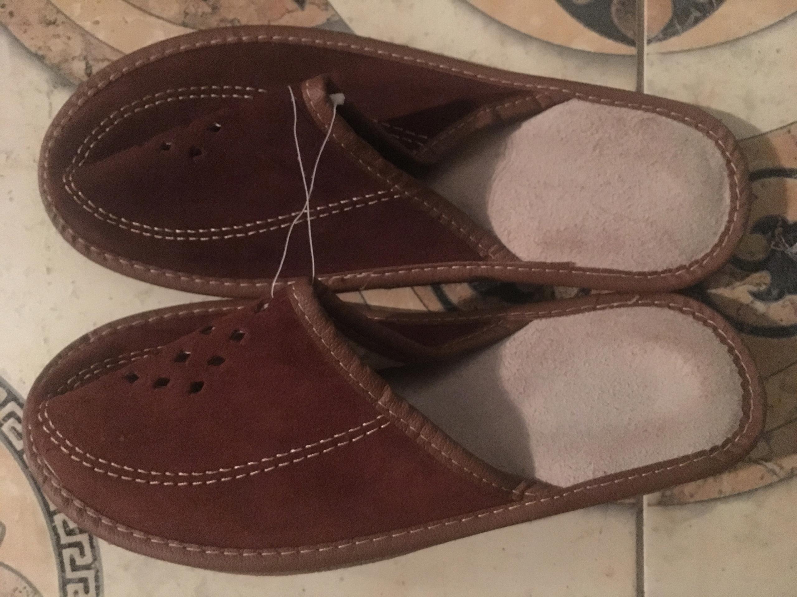 Kapcie/pantofle eko skora i skora 38 nowe BCM