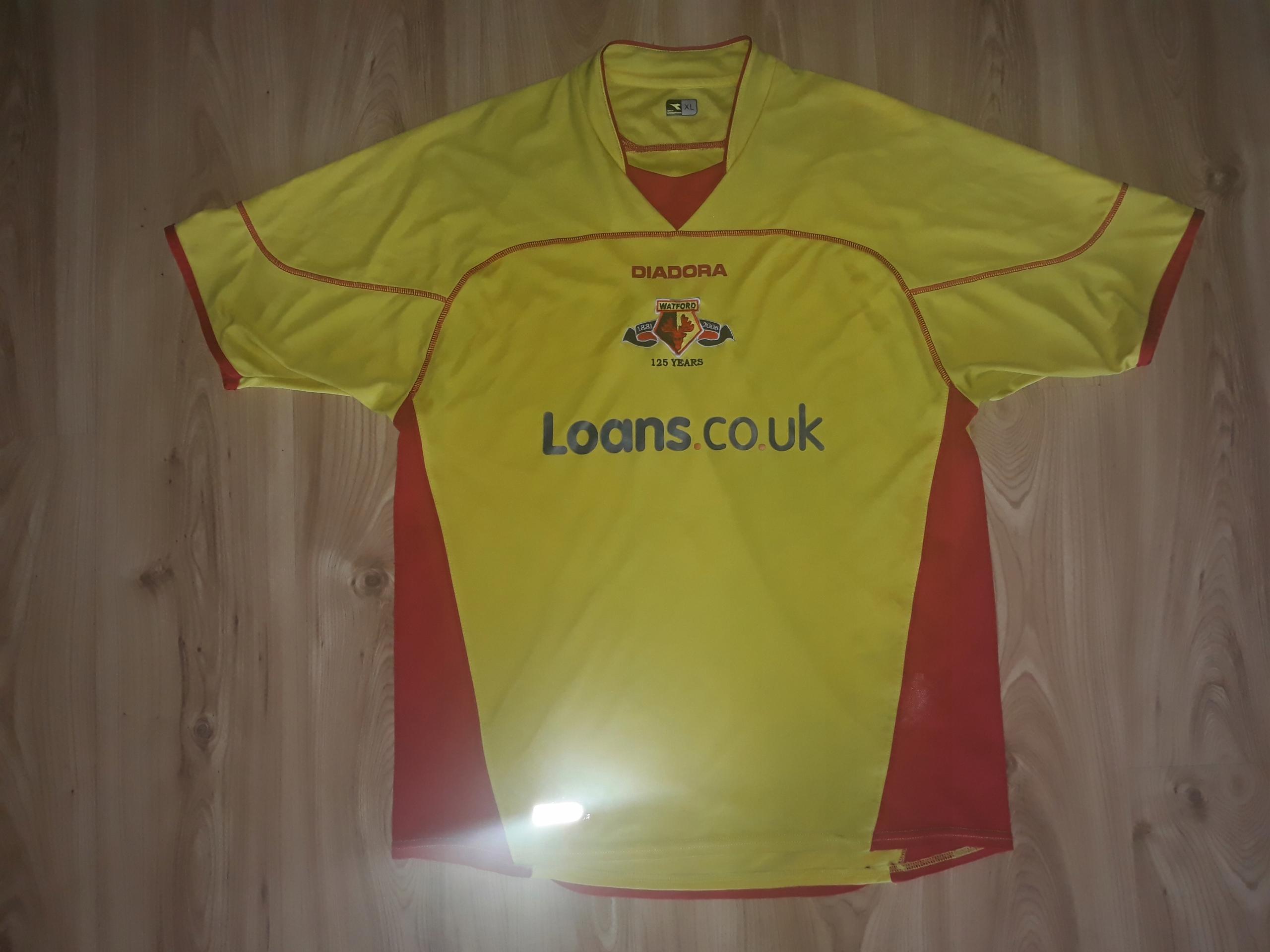 Koszulka Diadora XL Watford FC oldschool Anglia
