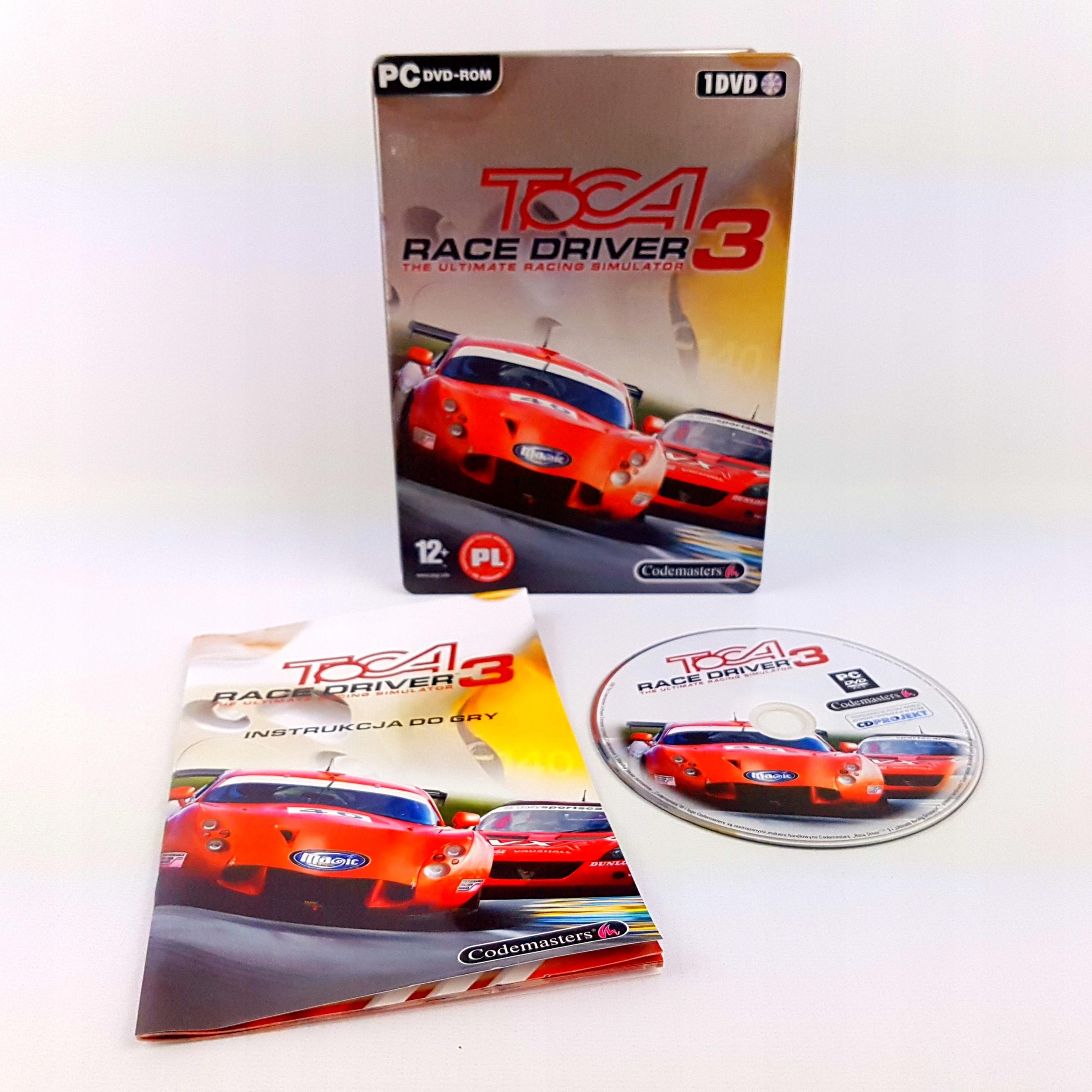 STEELBOOK TOCA RACE DRIVER 3 III POLSKIE PC PL