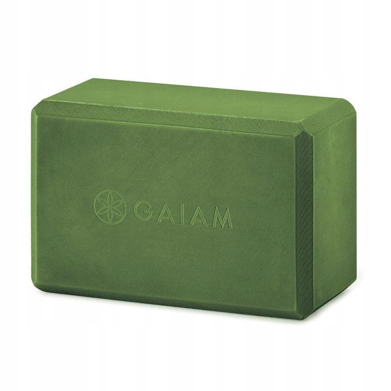 Kostka do jogi z pianki zielona 57824