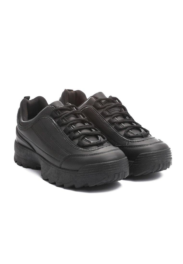 Buty Damskie Sneakersy Sportowe Czarne r40