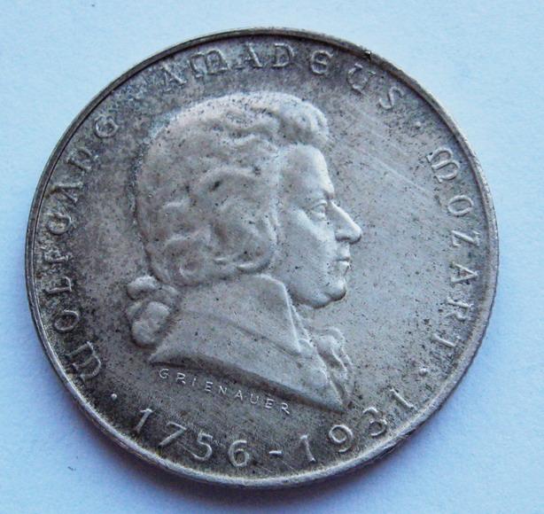 2 Schilling 1931 r Mozart 1931 r.