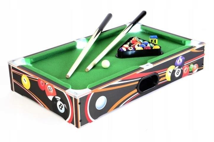 Mini stół bilardowy z akcesoriami do gry