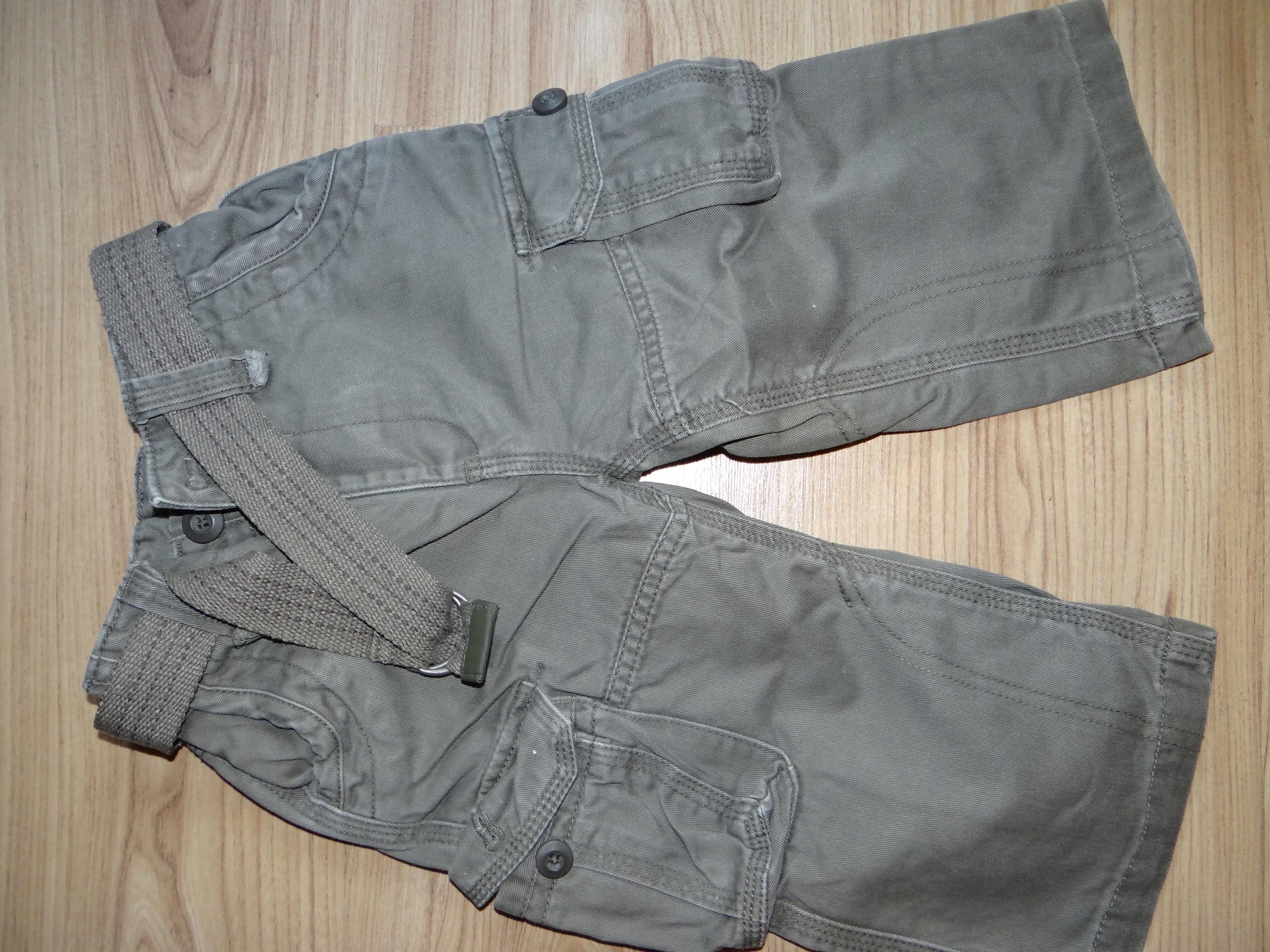 Spodnie jeans khaki z paskiem George 86 cm,polecam