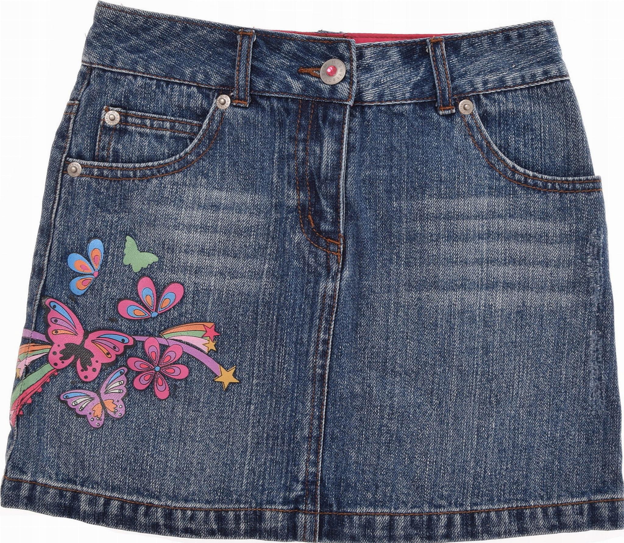 BUTTERFLY spódniczka dziewczęca Jeansowa 134