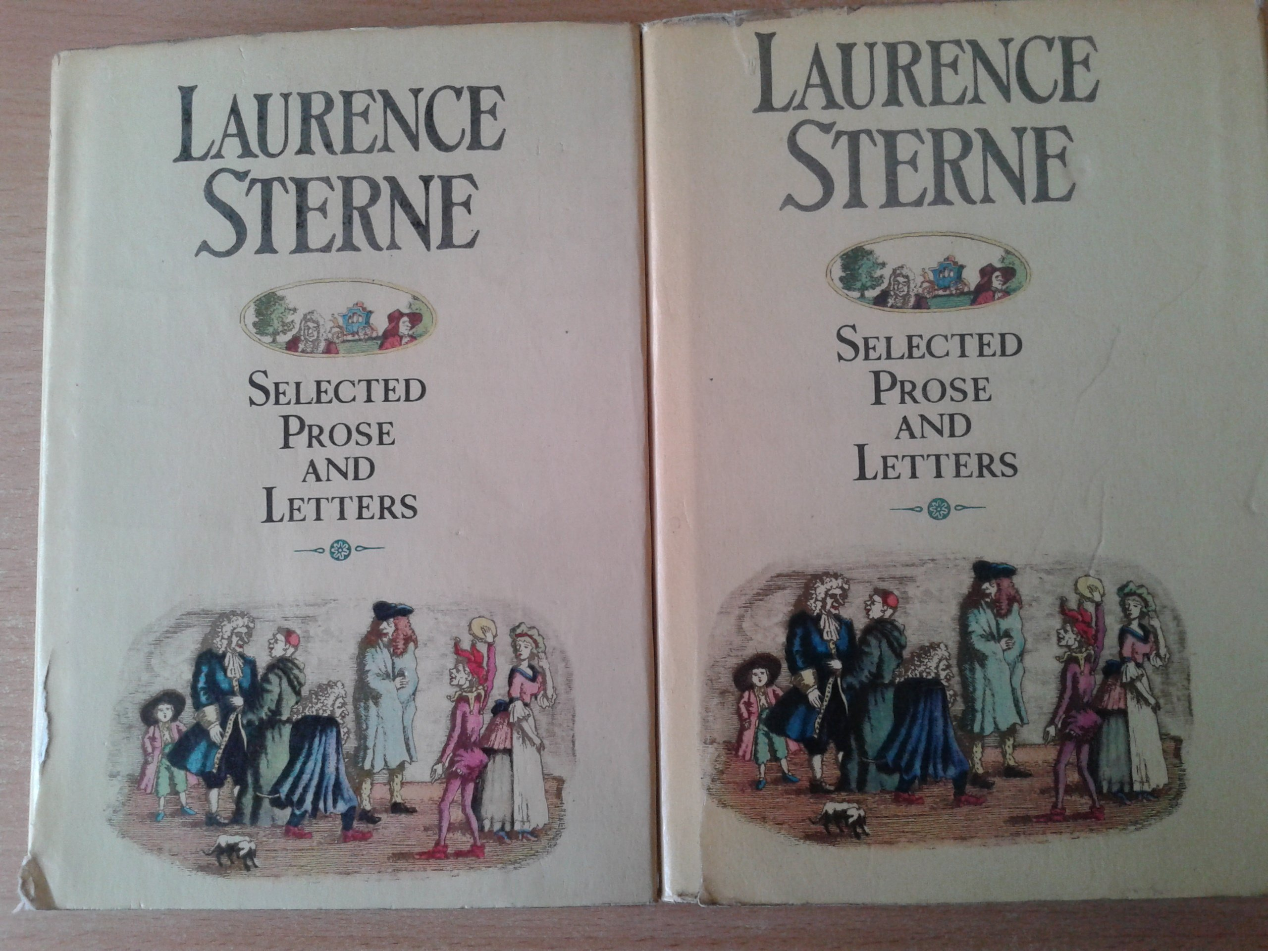 SELECTED PROSE AND LETTERS STERNE T. I, II