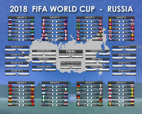 FIFA World Cup Russia 2018 - plakat w wersji ang