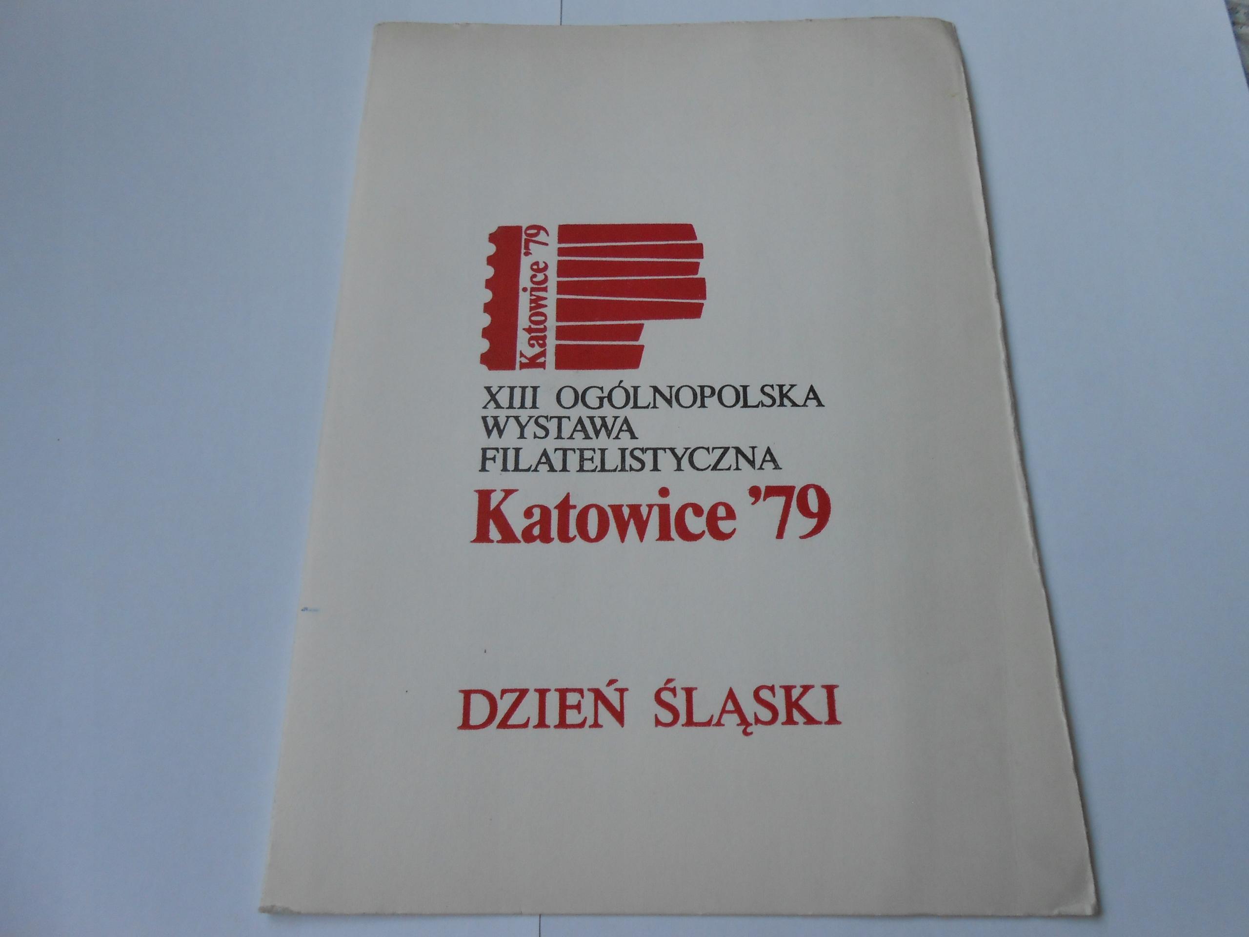 Karnet z blokiem 107 z wystawy Katowice