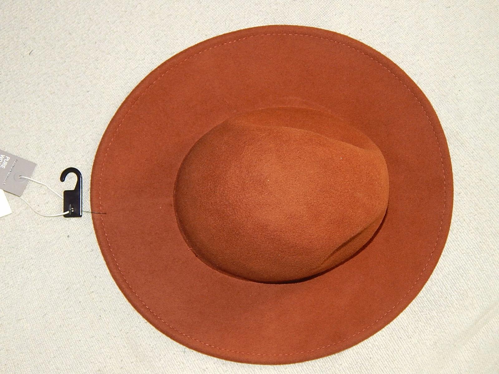 Kapelusz H&M camel brązowy wełna fedora zara