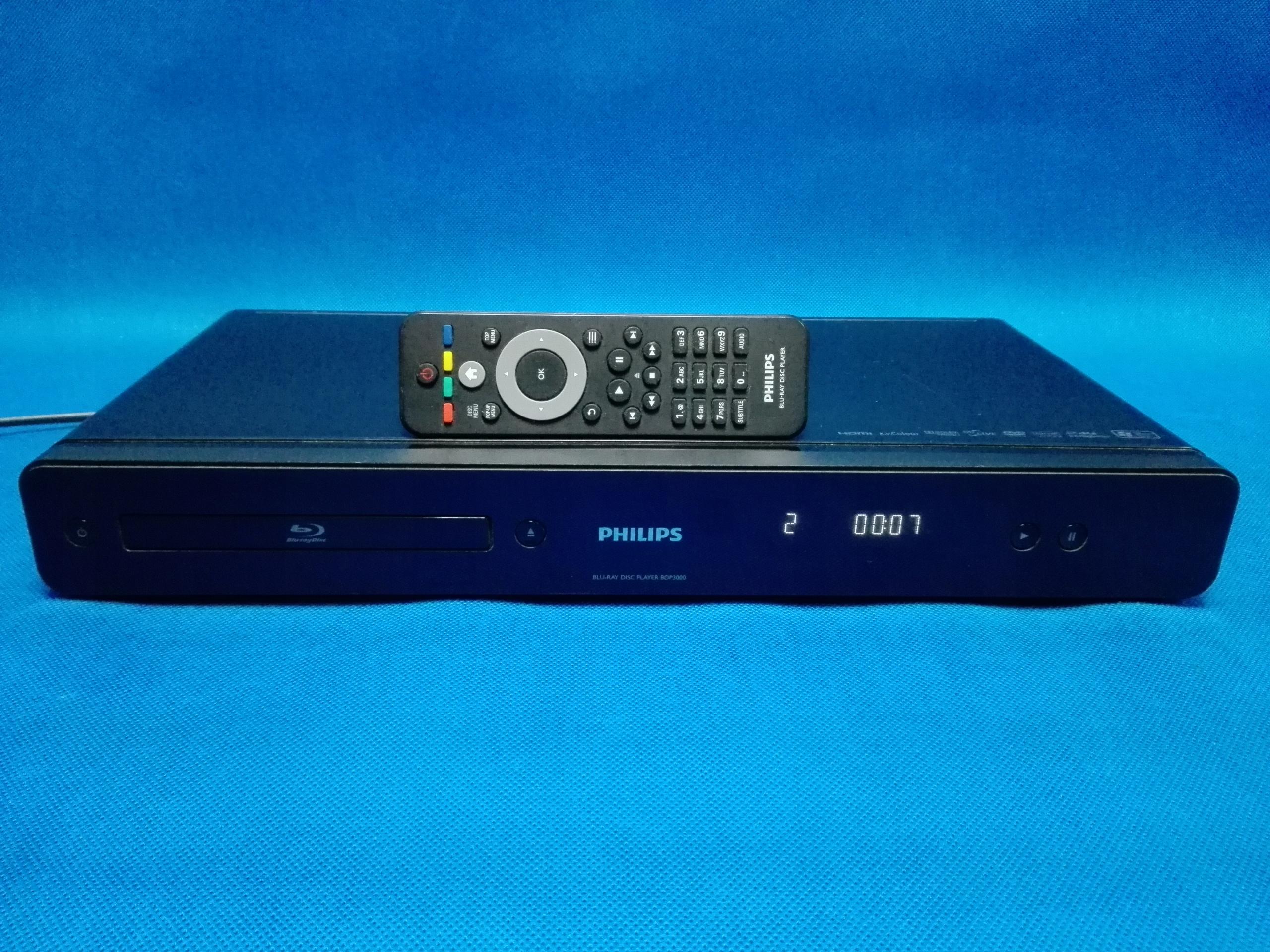 Odtwarzacz Blu-Ray PHILIPS BDP-3000 / LAN / Pilot