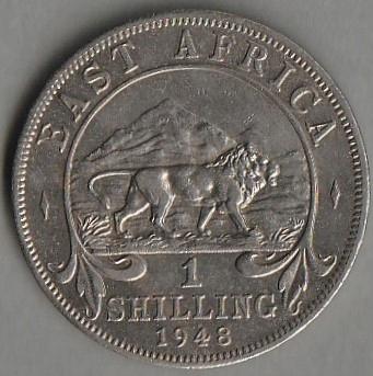 Brytyjska Afryka Wschodnia / 1 szyling / 1948