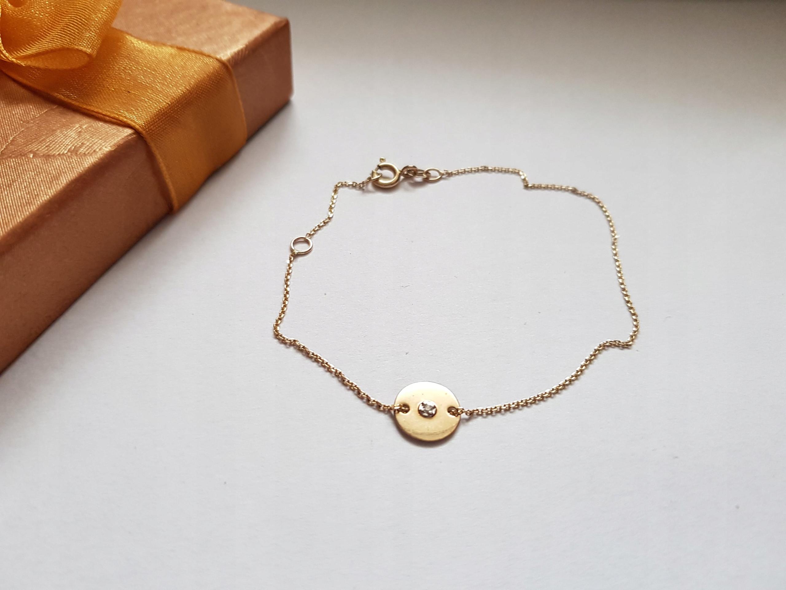 4f85b7271c88db APART, Bransoletka z żółtego złota z brylantem - 7840761233 ...