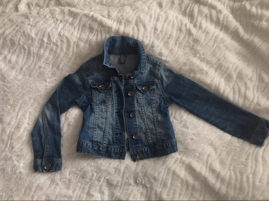 Dżinsowa kurtka, bluza ZARA r.118
