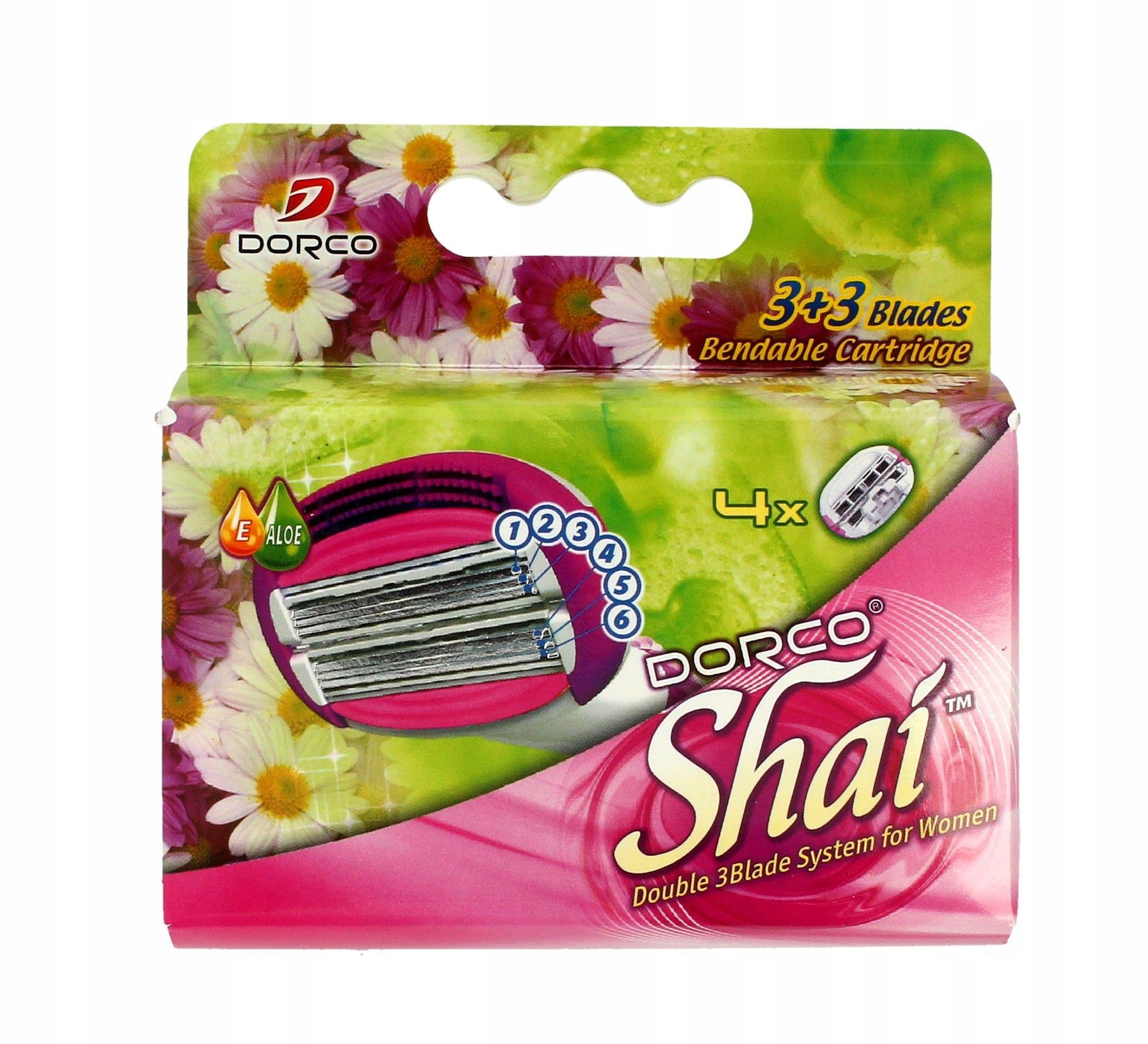 Dorco Shai 3+3 Wkłady do maszynki systemowej damsk