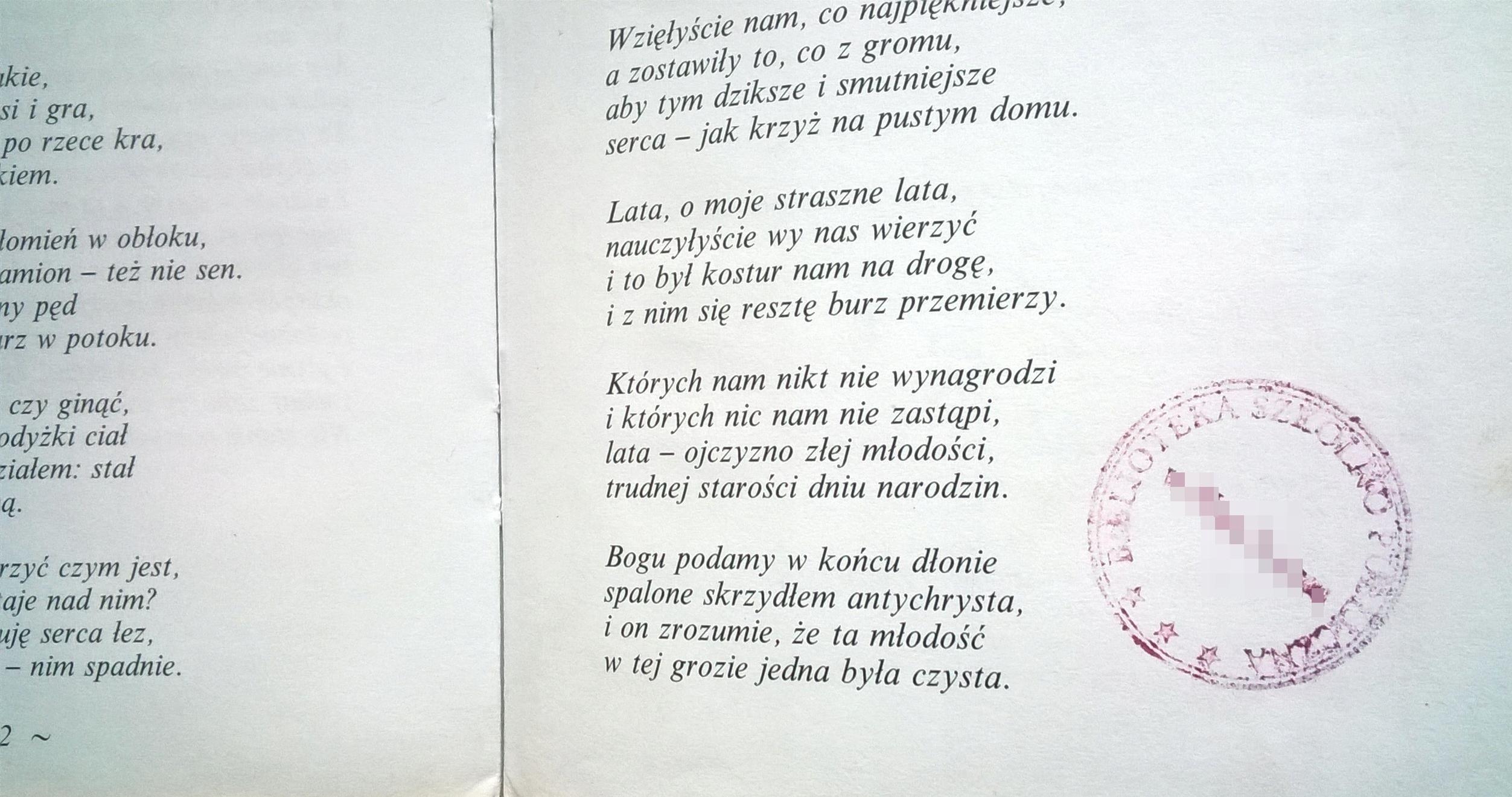Najpiękniejsze Wiersze Krzysztof Kamil Baczyński