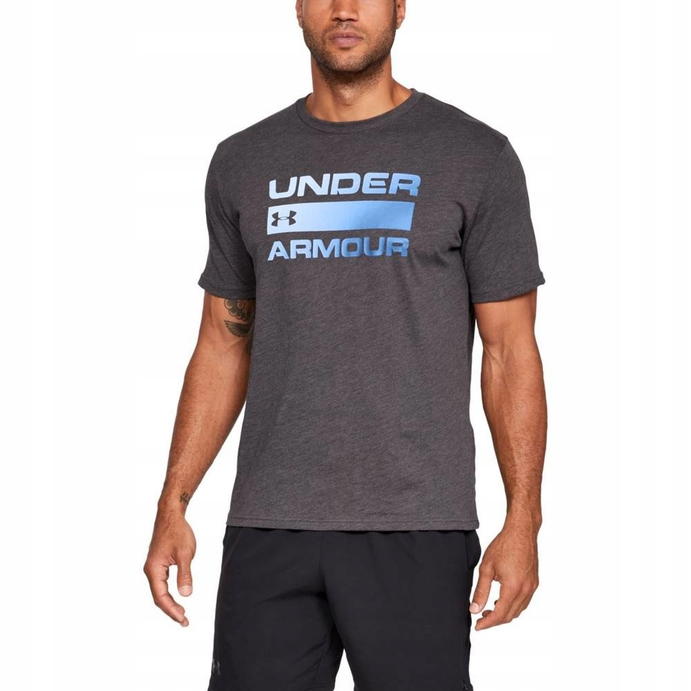 Koszulka męska Under Armour 1329582 LG Ciemnoszary