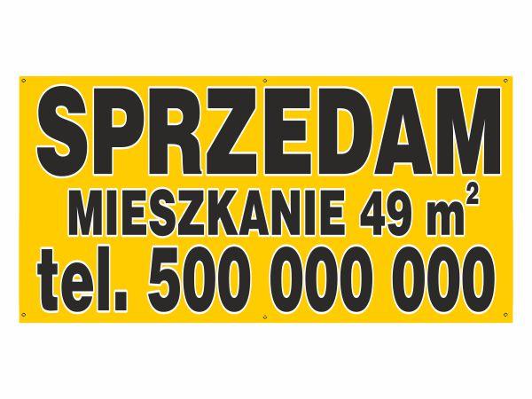 Solidny Baner 200x100 reklama plandeka HQ NEW