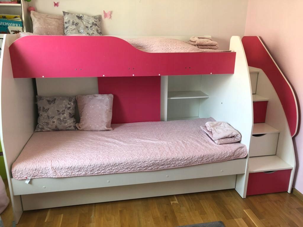 Łóżko piętrowe pamiętnik na hasło Mattel