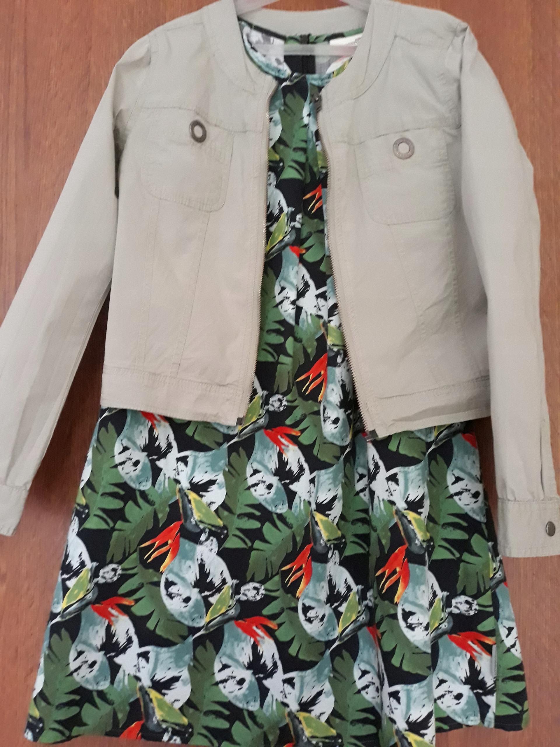 Żakiecik khaki Coccodrillo dla dziewczynki - 146