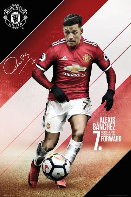 Manchester United Sanchez 17/18 - plakat