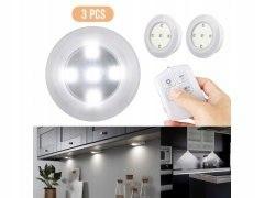 Bezprzewodowe lampki LED kpl. 3 sztuki + pilot iko