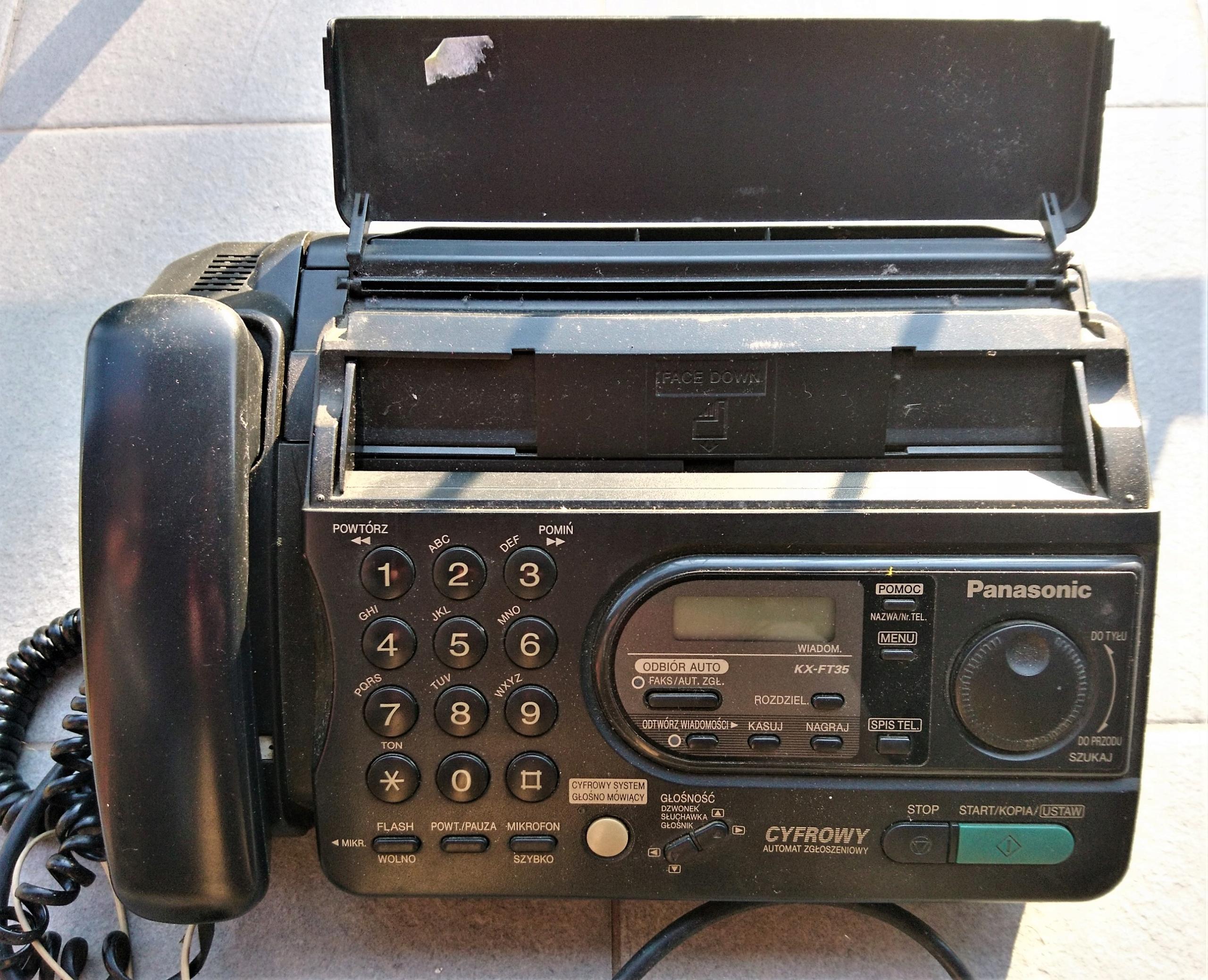 Telefon Fax cyfrowy Panasonic KX-FT35PD sprawny