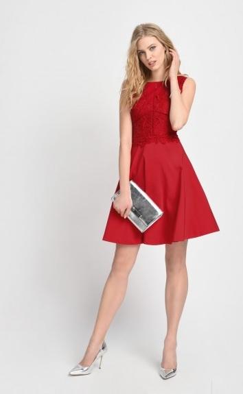 ORSAY czerwona sukienka, rozm. S/M, wesele