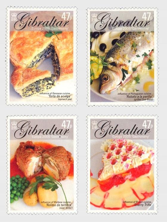 Gibraltar 2005, EUROPA CEPT: gastronomia kuchnia**