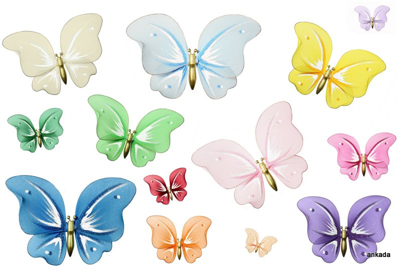 Motyl Dekoracja 21x18cm Motyle Dekoracyjne Ozdoba
