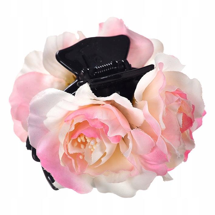 7212ea855836b8 Spinka do włosów klamra kwiaty białe róż - 7502323009 - oficjalne ...