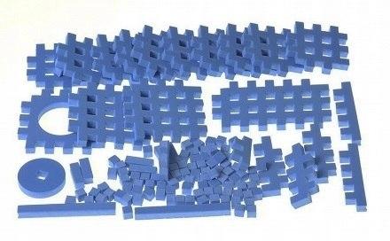 PIANKOWE PUZZLE SENSORYCZNE 115EL. blue premium #U