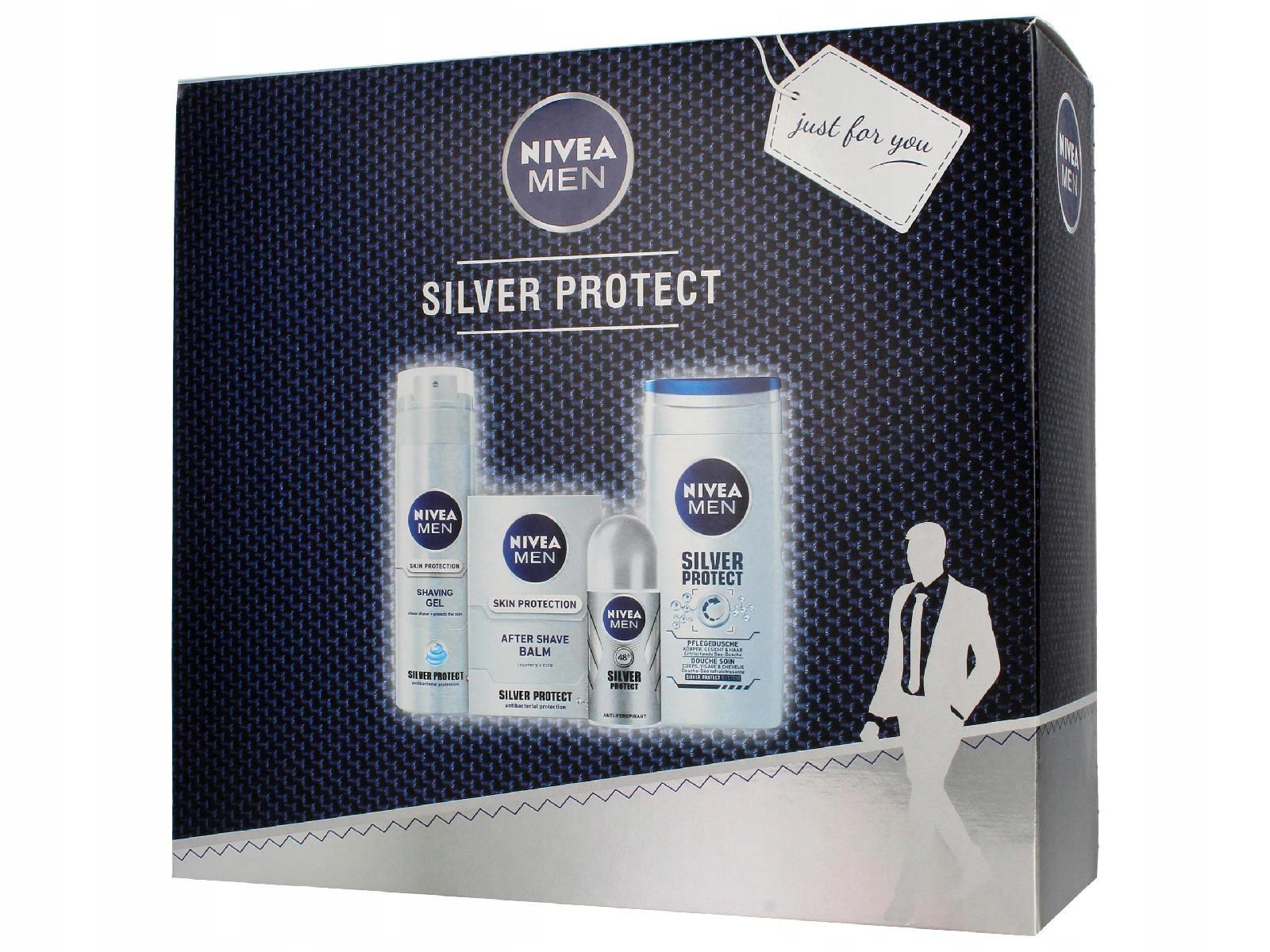 Nivea Zestaw prezentowy Men Silver Protect 50ml)
