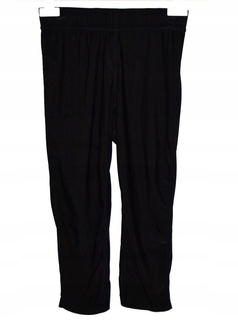 Czarne damskie spodnie dresowe 3/4do biegania r. L