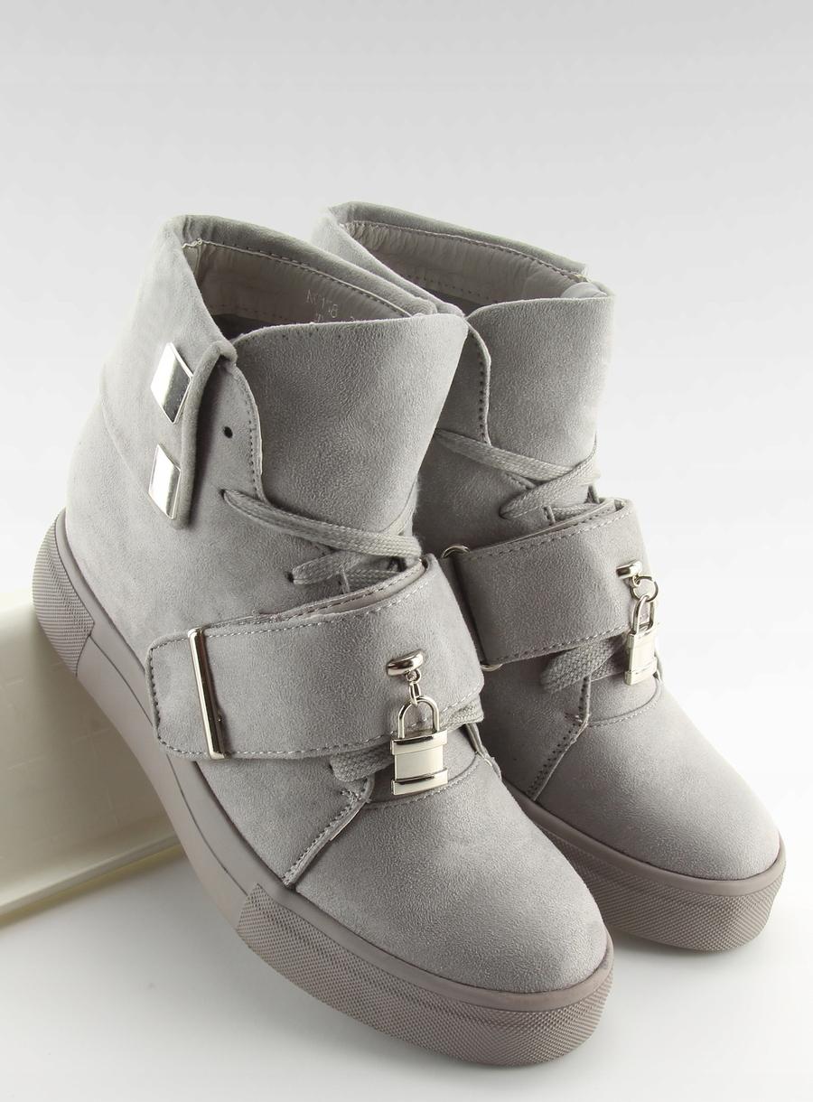 Sneakersy damskie szare NC158 GREY wzór Okrągły