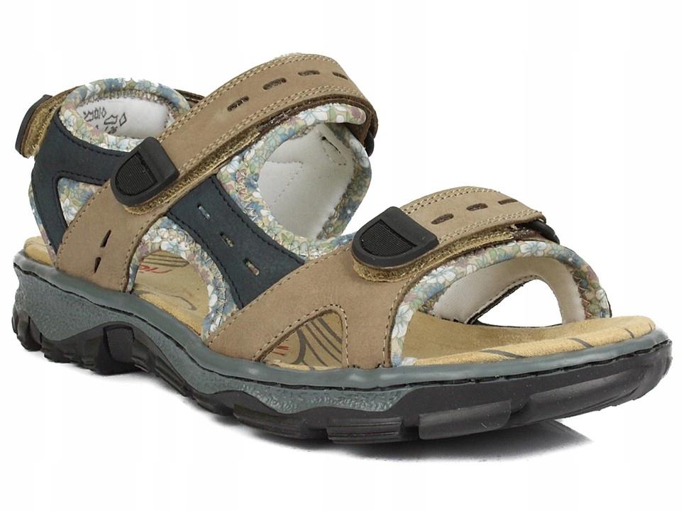 Sandały RIEKER 68872-25 beżowe r. 38 SELLECTI