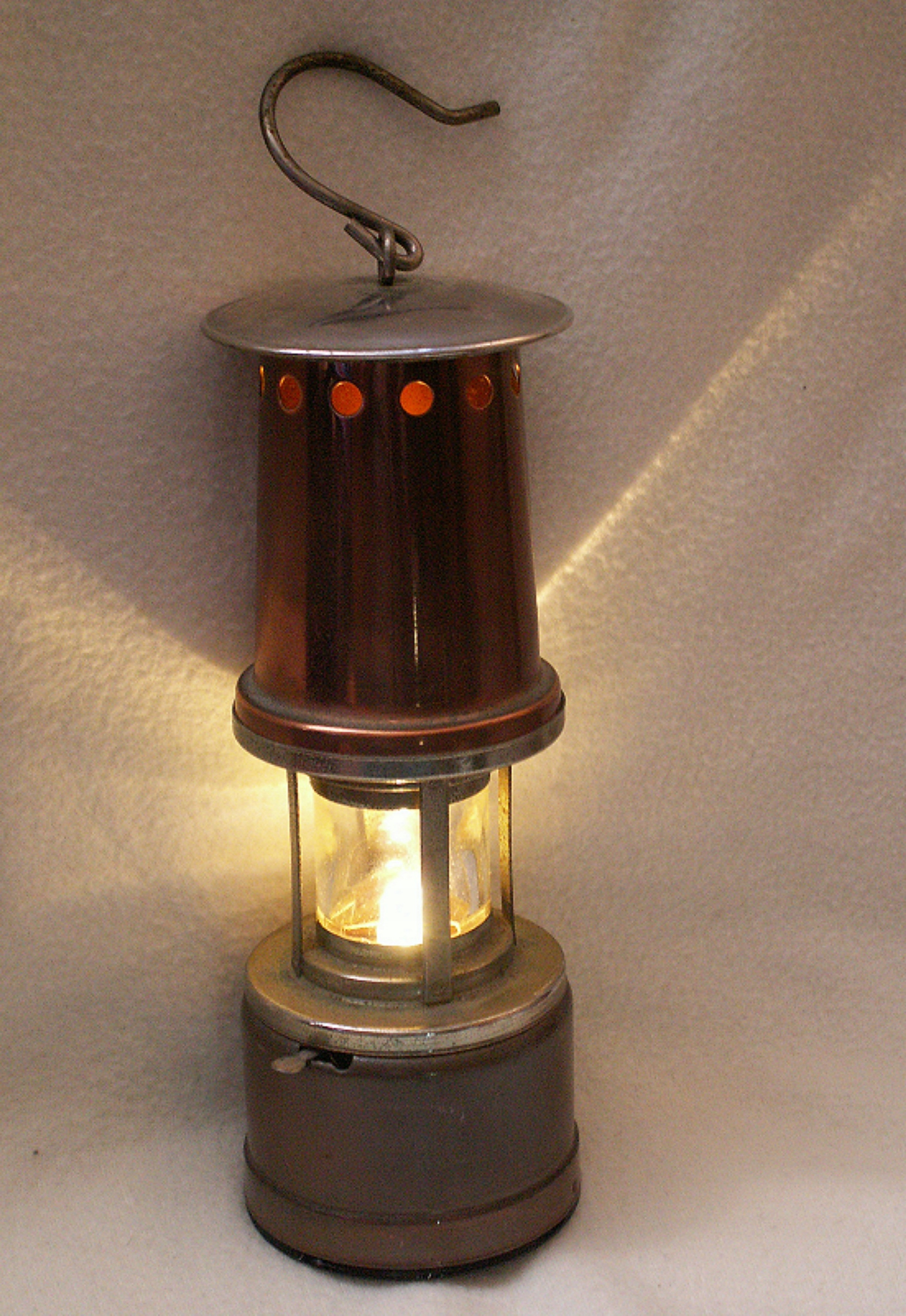 Stara lampa gornicza jak naftowa Grubenlampe+$$$$$
