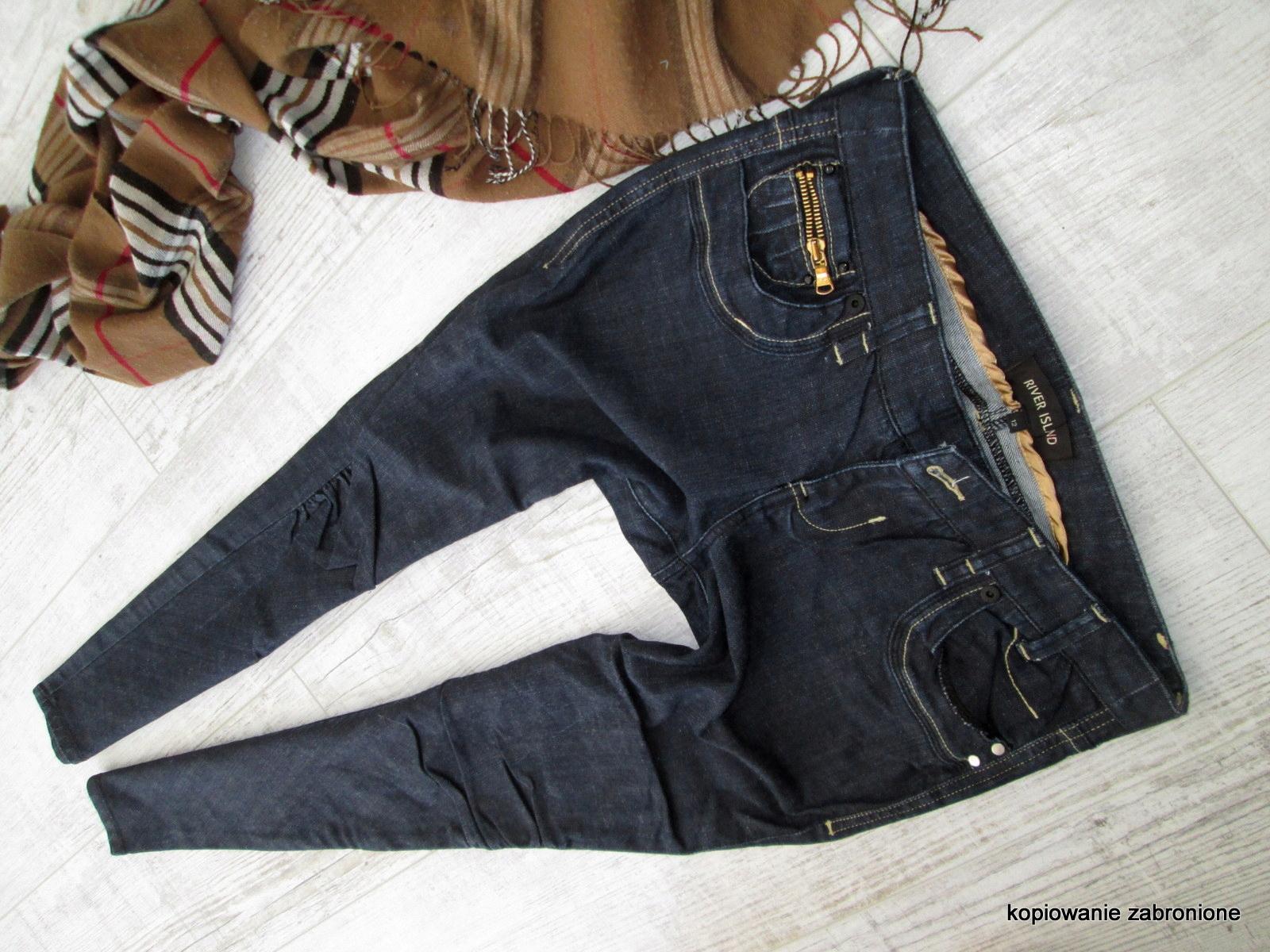 Kup 3 Weź 4 - RIVER ISLAND - jeans rurki 40 L