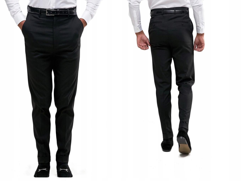 Eleganckie spodnie męskie zwężane czarne M/38