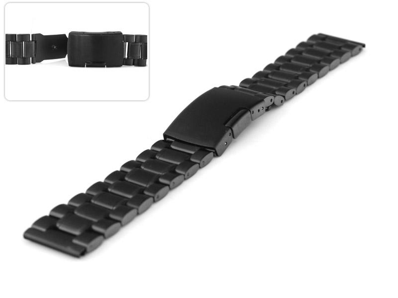 Bransoleta do zegarka czarna TZ rozmiar 24 mm