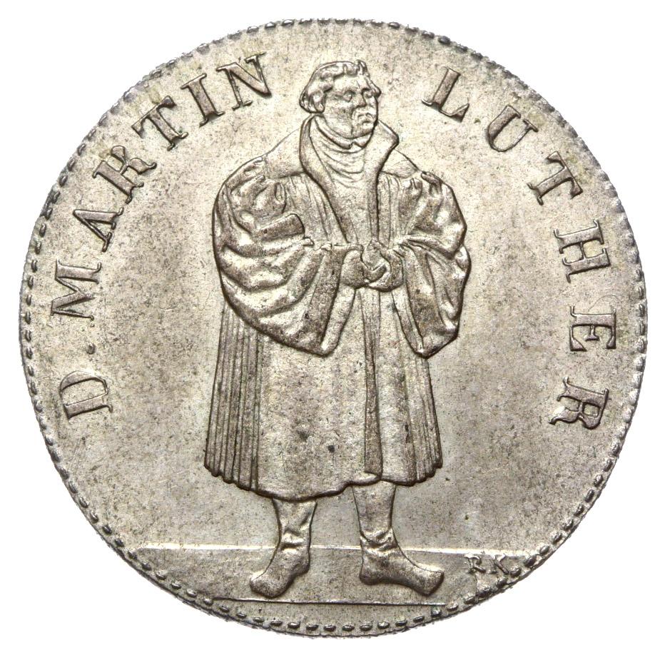 + Medal - Martin Luther 1830 - Srebro - Stan UNC