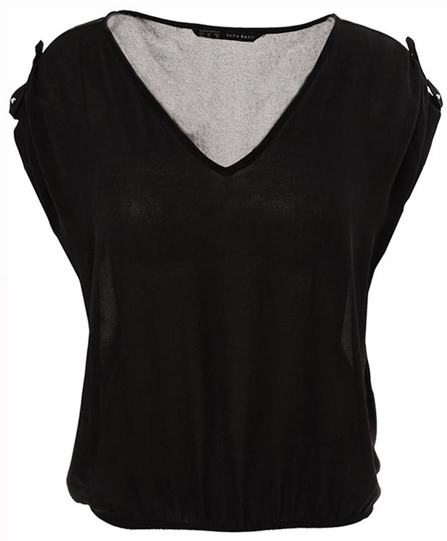 eXX4010 Zara lekka czarna kimonowa bluzka 44