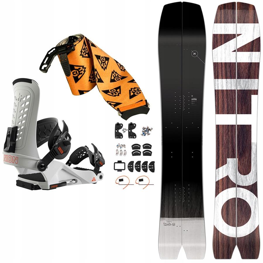 ZESTAW splitboard NITRO Squash + wiązania + foki