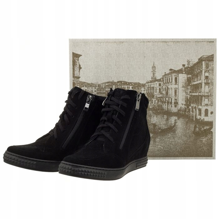 2ceb03e2 Buty Damskie Sneakersy Venezia 1123C CAM Czarne - 7465998726 ...