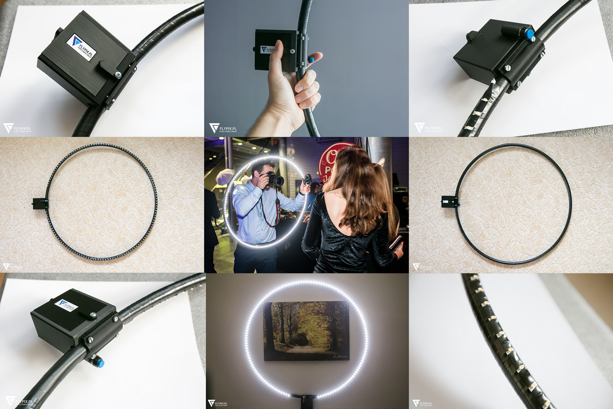 Ring LED, 78 cm, 3000K/4000K, lekki i solidny, FV