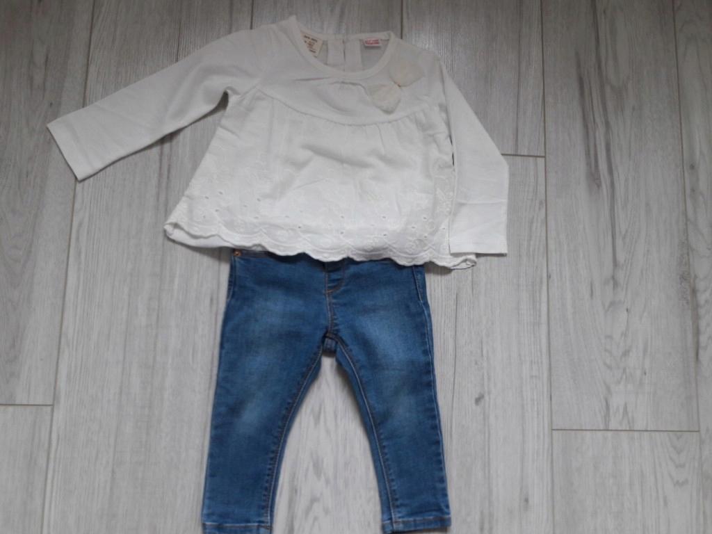Komplet Zara r.74 spodnie i bluzeczka