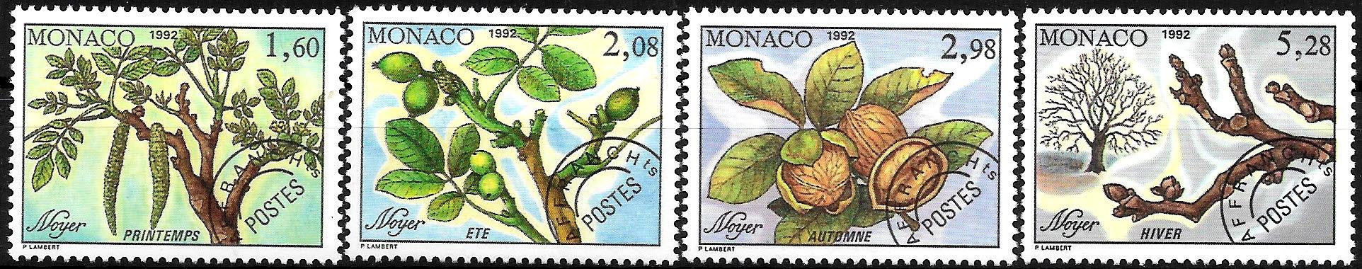 FL908 1992 FLORA drzewa, owoce zn.** Monako