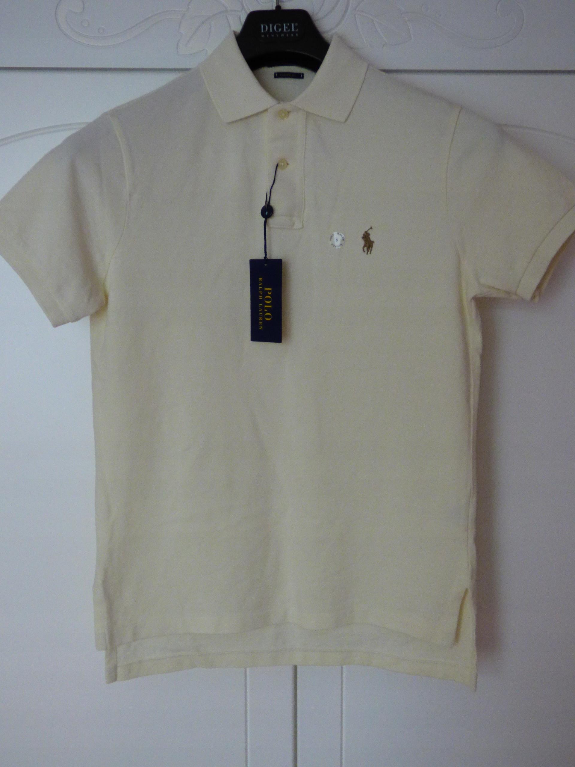 Ralph Lauren Polo koszulka polówka ecru roz S nowa